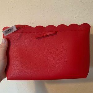 NWT Ulta red scallop makeup bag